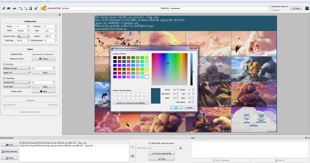 Customize your thumbnails colors